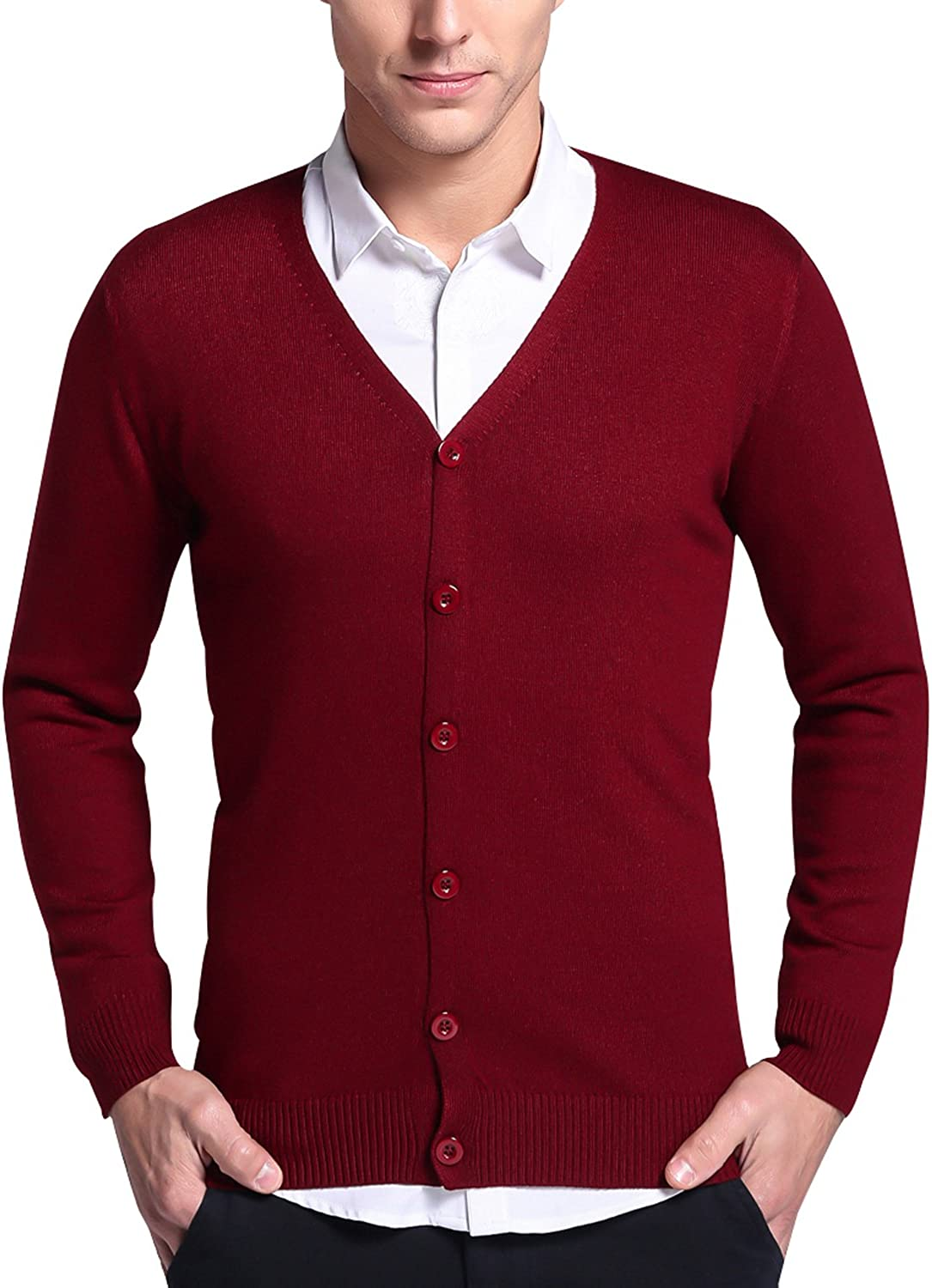 LONGMING Men's Casual Winter Cashmere V-Neck Wool Direct sale of manufacturer Ca Long Our shop OFFers the best service Sleeve