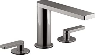 KOHLER Composed K-73060-4-TT Widespread 2-Handle Bathroom Sink Faucet with Metal Drain Assembly in Titanium