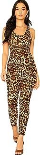 SweatyRocks Women's Lace Up Backless Sleeveless Straight Leg Long Pants Jumpsuit Romper