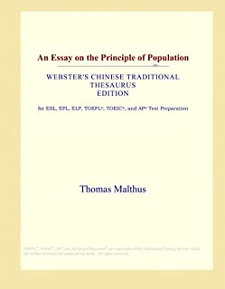 An Essay on the Principle of Population (Webster's Chinese Traditional Thesaurus Edition)