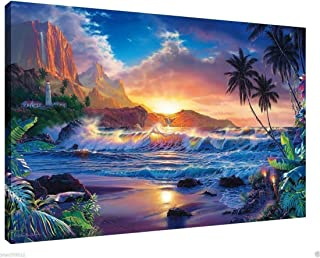 lihuaiart Beyond Hana's Gate,Christian Riese Lassen Poster Wall Art Home Wall Decorations for Bedroom Living Room Oil Paintings Canvas Prints 24x36inch-231 (Framed)