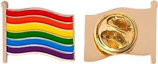 Rainbow Gay Flag Lapel Pin Enamel LGBT (Waving Flag Pin)