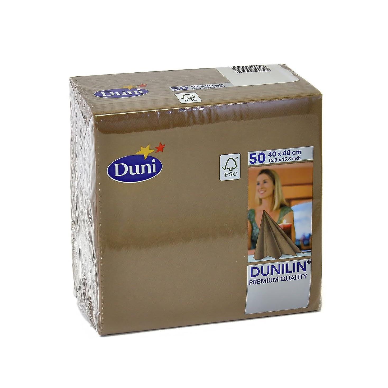 口径涙追跡DUNI Dunilin 高級紙ナプキン 40x40cm カフェ (ブラウン) 50枚入り