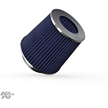 K&N Universal Clamp-On Air Filter: High Performance, Premium, Washable, Replacement Filter: Flange Diameter: 4 In, Filter Height: 5.5 In, Flange Length: 1.125 In, Shape: Round Tapered, RG-1001BL