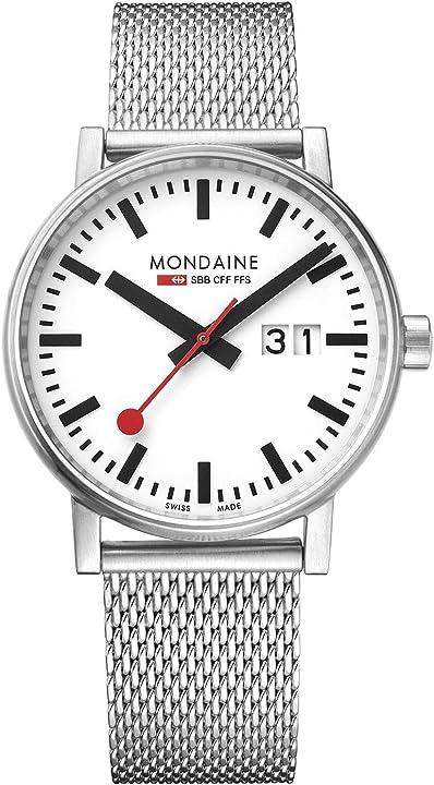 Orologio in acciaio inossidabile per uomo e donna mse.40210.sm 40mm. mondaine evo2