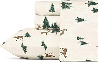 Eddie Bauer Deer Hollow Flannel Sheet Set, Queen