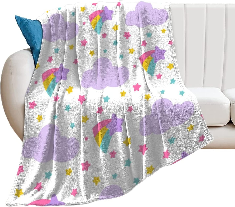 Akdeps Rainbow Max 54% Soldering OFF Cloud Colorful Funny Soft Plu Light Super Blanket