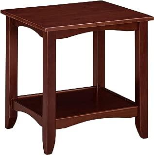 Ravenna Home Dora Classic Shelf Storage Wood Side End Table, 22