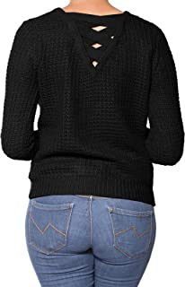 Instar Mode Women's Fashion Long Sleeve Knitted Loose Pullover Sweater Top