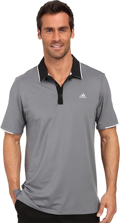Prisión Recordar Informar  Amazon.com : adidas Golf Men's Climacool Branded Performance Polo, Vista  Grey/Black, Medium : Clothing