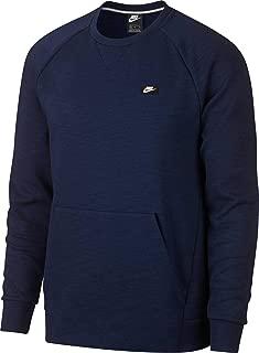 Nike Men's Sportswear Optic Crewneck Pullover, (Midnight Navy/HTR, Medium)