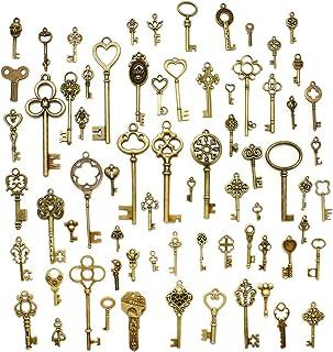 comprar comparacion Hysagtek - Juego de 70 llaves antiguas de bronce, accesorios para bisutería, manualidades, collares y pulseras, colgantes,...
