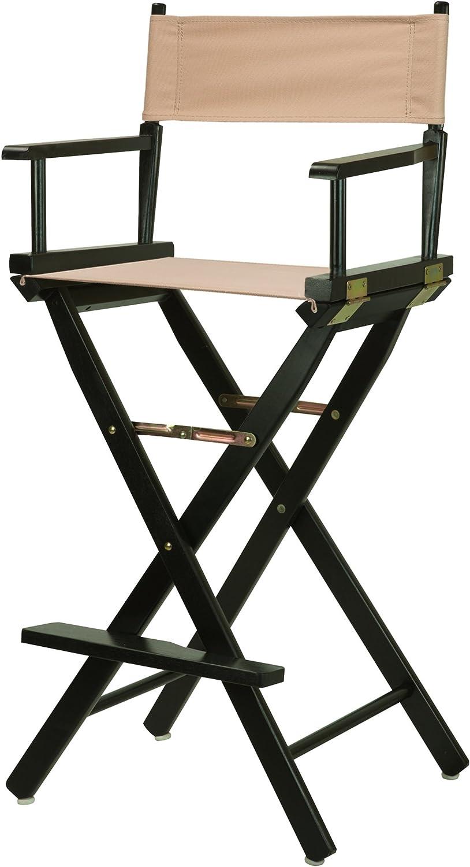 Casual Home 30-Inch Director Chair Black Frame, Tan Canvas