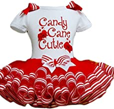 Little Girls Christmas Holiday Candy Cane Cutie Tutu Dress Toddler Baby Girl Dresses Christmas Outfit