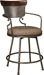 Ashley Furniture Signature Design - Moriann Swivel Barstool - Counter Height - Vintage Casual - Two-tone Finish