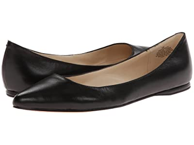 Nine West SpeakUp Flat (Black Leather) Women