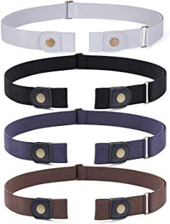 No Buckle Invisible Stretch Belt Buckle-Free Elastic Belt for Women and Men