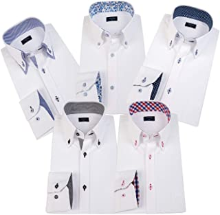 ワイシャツ 長袖 5枚セット メンズ ビジネス シャツ 多色選択