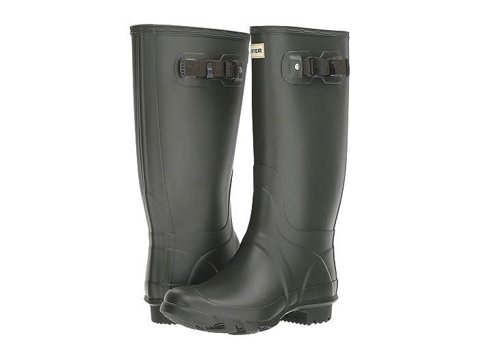 Hunter  Huntress Field Boot (Dark Olive) Womens Rain Boots