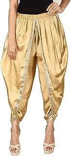 Golden Color Satin Silk Dhoti Pant, Patiala Dhoti Salwar, Dhoti Trousers for Women, Girls