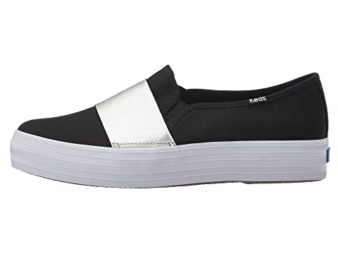 Free Shipping Cheapest Online For Sale Keds Triple Bandeau Canvas Black/Silver Y1gsZ