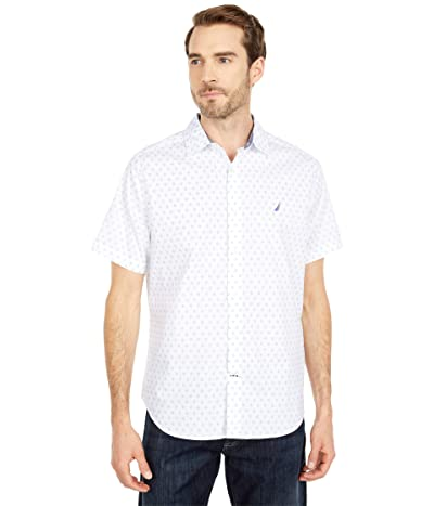 Nautica Oxford Print Sportshirt (White) Men
