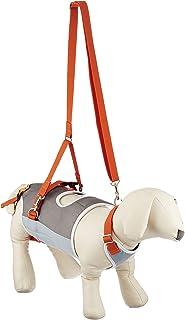 With(ウィズ) 歩行補助ハーネス LaLaWalk 小型犬・ダックス用 グレー×オレンジ L サイズ