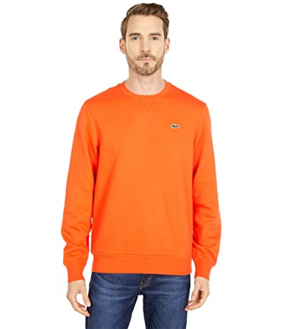 Lacoste Long Sleeve Solid Color Sweatshirt (Gladiolus/Gladiolus) Men