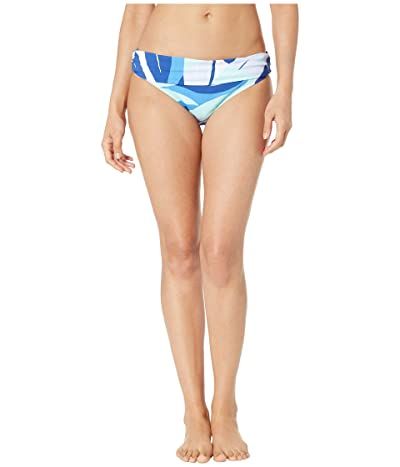 La Blanca Palm Reader Shirred Band Hipster Bottoms (Blue Multi) Women