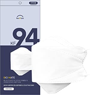 5 pcs KF94 Face Disposal Mask, 4 Layers Virus Filter Protection,Filter Efficiency ≥ 94%, Made in Korea, Large Size White A...