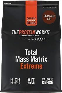 THE PROTEIN WORKS Total Mass Matrix Extreme Protein Powder | Masa Muscular | Alto en Calorías Para Ganar Masa | Con Glutamina. Creatina y Vitaminas | Chocolate Suave | 1.325kg