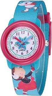 Kinderhorloge Meisjes Cartoon Waterdichte horloge Kindertijd-Conscious Ribbon Stijl Cartoon Kinderhorloge (Sky Blue)