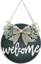 Welcome Sign Porch Decor, Rustic Wooden Door Hangers Front Door Outdoor Hanging Vertical..