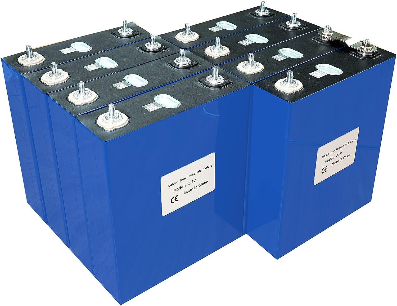 VARADOMO 4 / 8PCS Grado A 3.2V 200AH LIFEPO4 Batería 12V 24V Litio de Hierro fosfato,8PCS