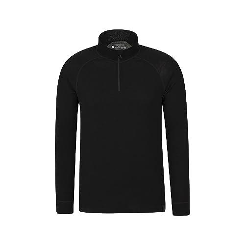 ba4513a7e22a Mountain Warehouse Merino Mens Long Sleeved Thermal Baselayer Top -  Breathable Jumper, Half Zip,