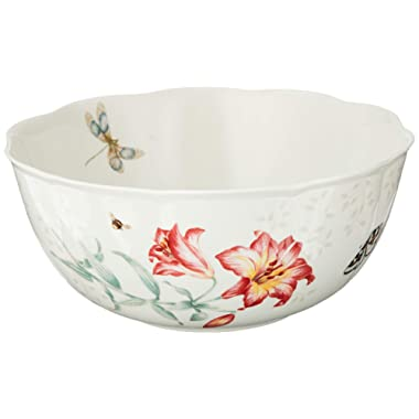 Lenox Butterfly Meadow Salad Bowl and Servers, 4.1 LB, Multi