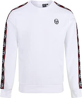 Sergio Tacchini Delaco Crew Neck Sweat Shirt   White/Navy