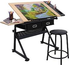 جدول آماده سازی قابل تنظیم ارتفاع جدول قابل تنظیم جدول قابل تنظیم قابل خواندن برای خواندن، نوشتن صنایع دستی w / مدفوع و مداد (# 1)