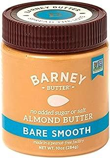Barney Almond Butter, Bare Smooth, No Sugar No Salt, Paleo, Keto, Non-Gmo, Skin-Free, 10 Oz