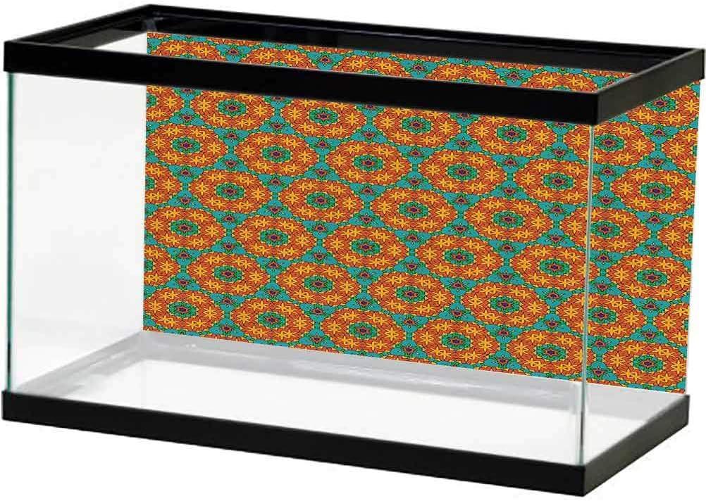 ScottDecor Orange Aquarium Fish free shipping Tank online shopping Poster Kaleidosc Background