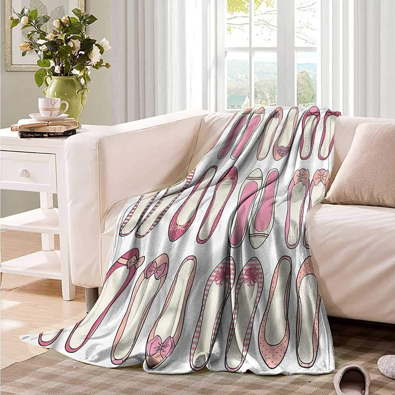 Oncegod Flannel Blanket Girls Ballerina Ballet shoes Blanket on Bed Sofa Bedding 60  W x 51  L
