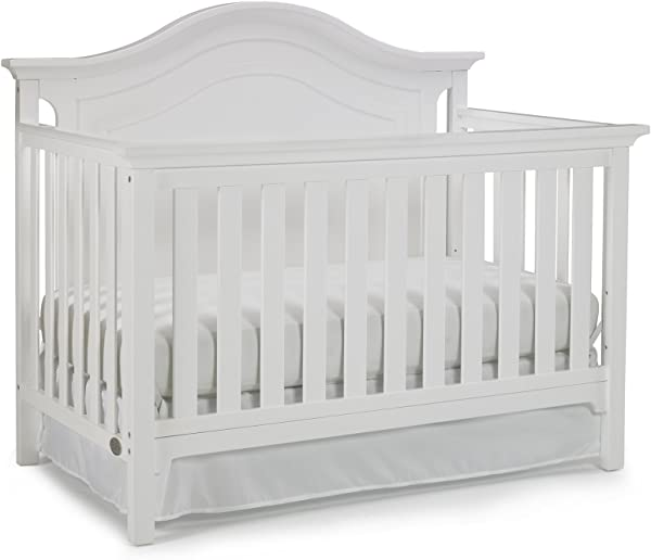 Ti Amo Catania 4 In 1 Convertible Crib Snow White