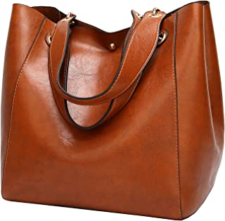 Molodo Women PU Leather Big Shoulder Bag Purse Handbag Tote Bags