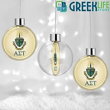 greeklife.store Alpha Sigma Tau Round Ball Ornament Christmas Decor