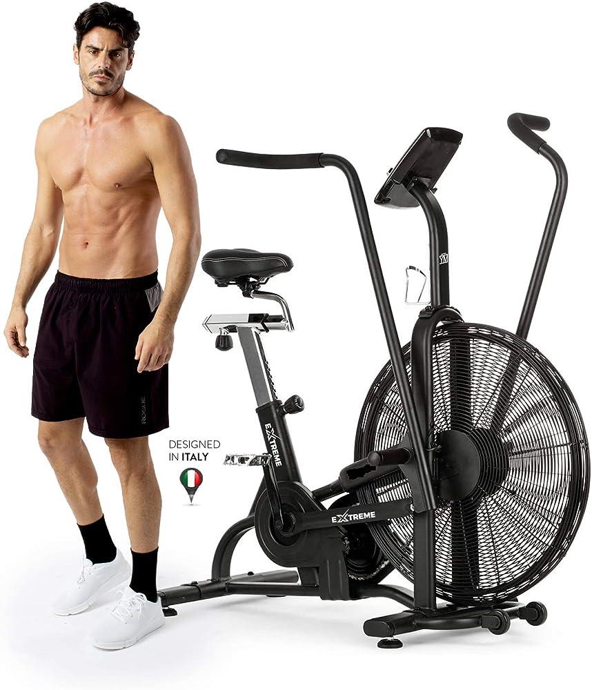 Ym air bike, cyclette spinning professionale, crosstrainer ergometro, mod. 2021 EXTREME