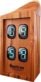 Nuvitron Chroniker Collins | The Coolest Gift Idea for Men Who Likes Geek Decor | Alarm Clock | An Unusual Gift for Men Modern Mantle Clock | Wooden Gift for Men