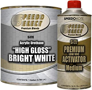 Speedokote High Gloss Bright White 2K Acrylic Urethane, 4:1 Gallon Kit, SMR-9710/1275