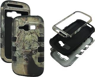 Hybrid Blackstrip Camo Whitetail Deer For Samsung Galaxy Ring Prevail 2 M840 Box 3 in 1 High Impact Shock Defender Plastic...