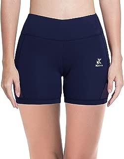 Kipro Running Shorts for Women Mesh Yoga Gym Workout Fitness Training Shorts High Waist Short Pants