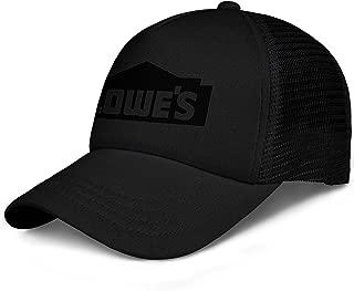 Unisex Man Baseball Hats Casual Adjustable Mesh Strapback Lowe's-Home-Improvement-Black-Logo-Flat Cap